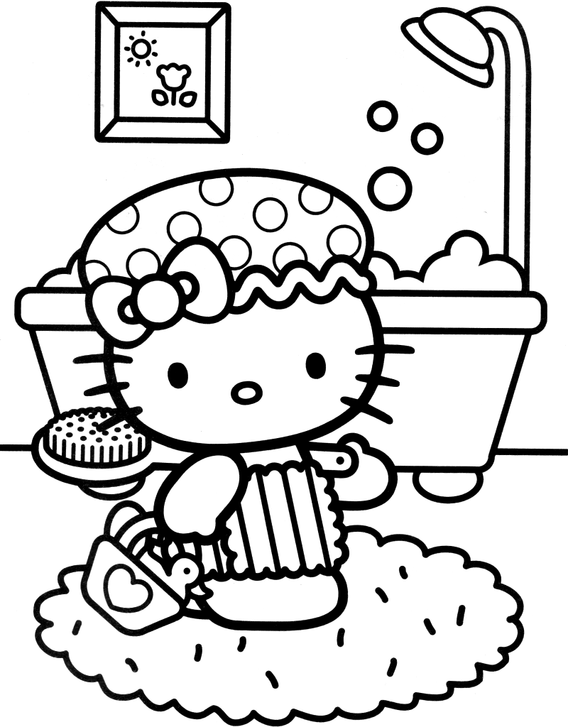 Coloriage hello kitty gratuit - dessin a imprimer #27