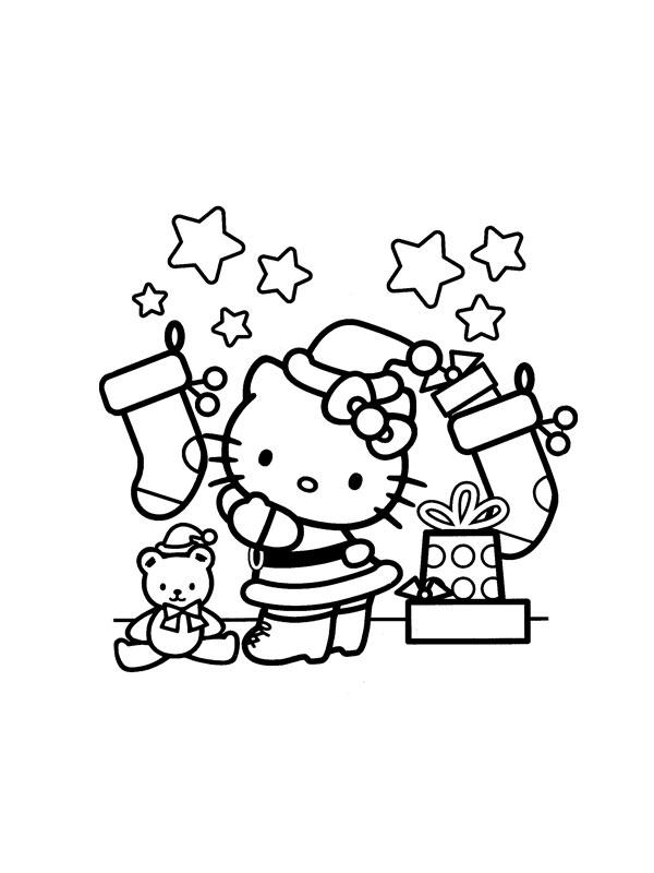 Coloriage hello kitty gratuit - dessin a imprimer #272