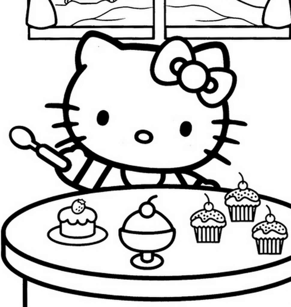 Coloriage hello kitty gratuit - dessin a imprimer #280