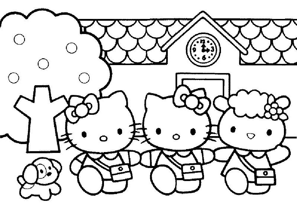 Coloriage hello kitty gratuit - dessin a imprimer #284