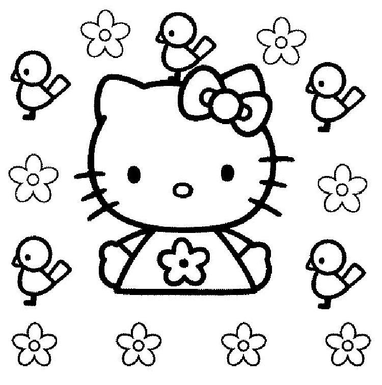 Coloriage hello kitty gratuit - dessin a imprimer #285