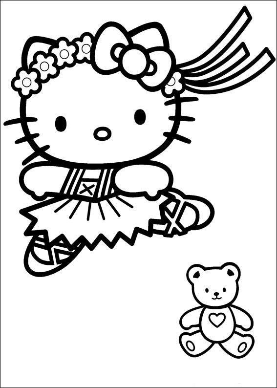 Coloriage hello kitty gratuit - dessin a imprimer #286
