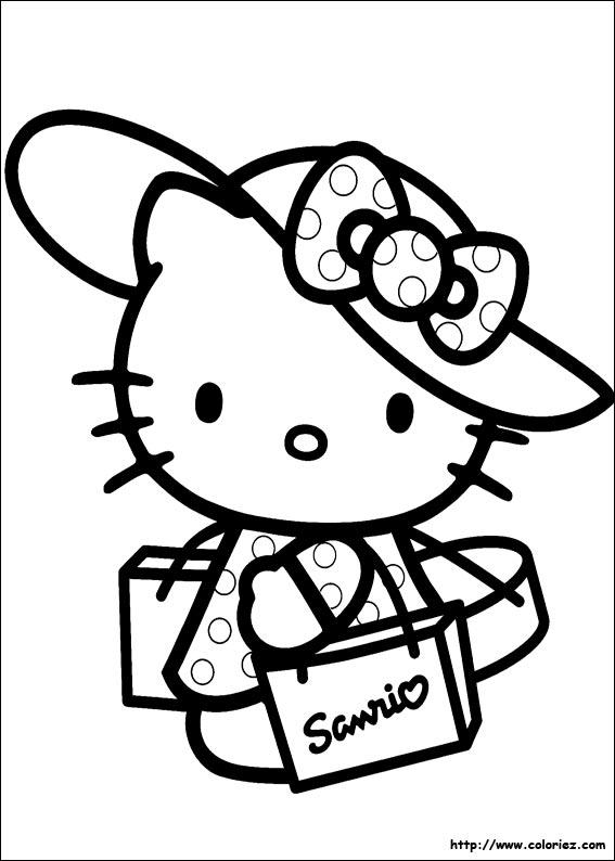 Coloriage hello kitty gratuit - dessin a imprimer #29