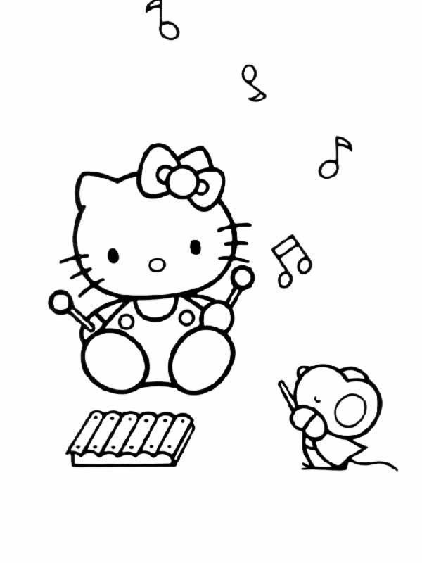Coloriage hello kitty gratuit - dessin a imprimer #294