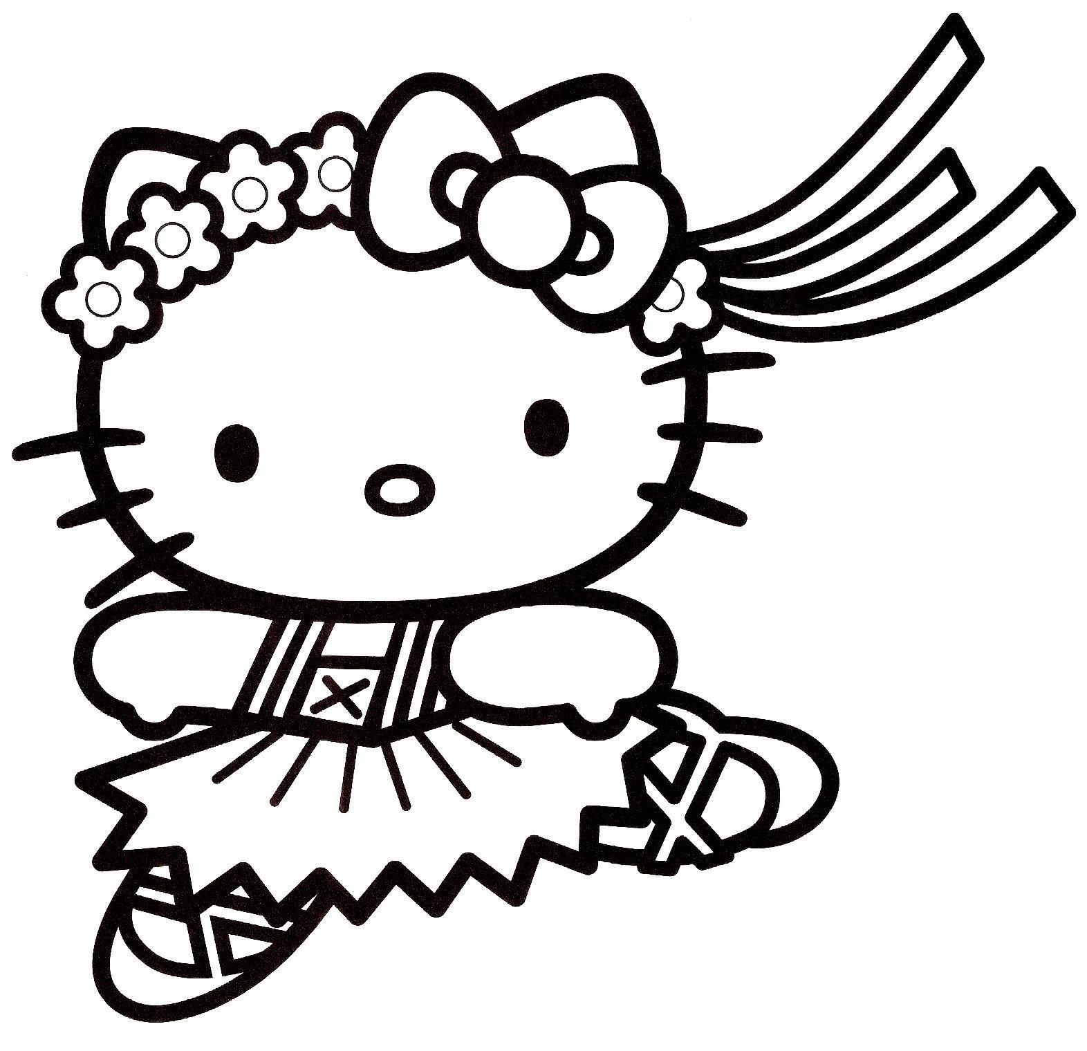 Coloriage hello kitty gratuit - dessin a imprimer #3