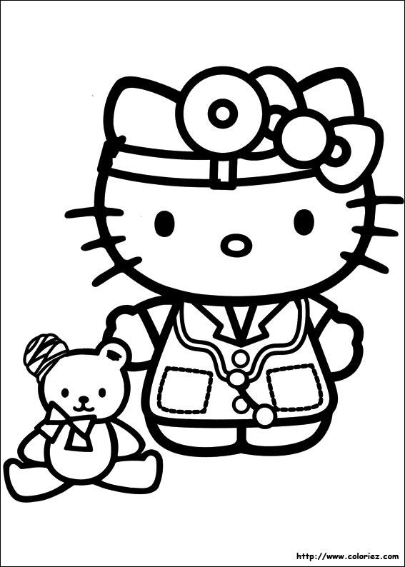 Coloriage hello kitty gratuit - dessin a imprimer #30