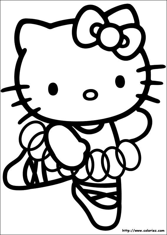Coloriage hello kitty gratuit - dessin a imprimer #32