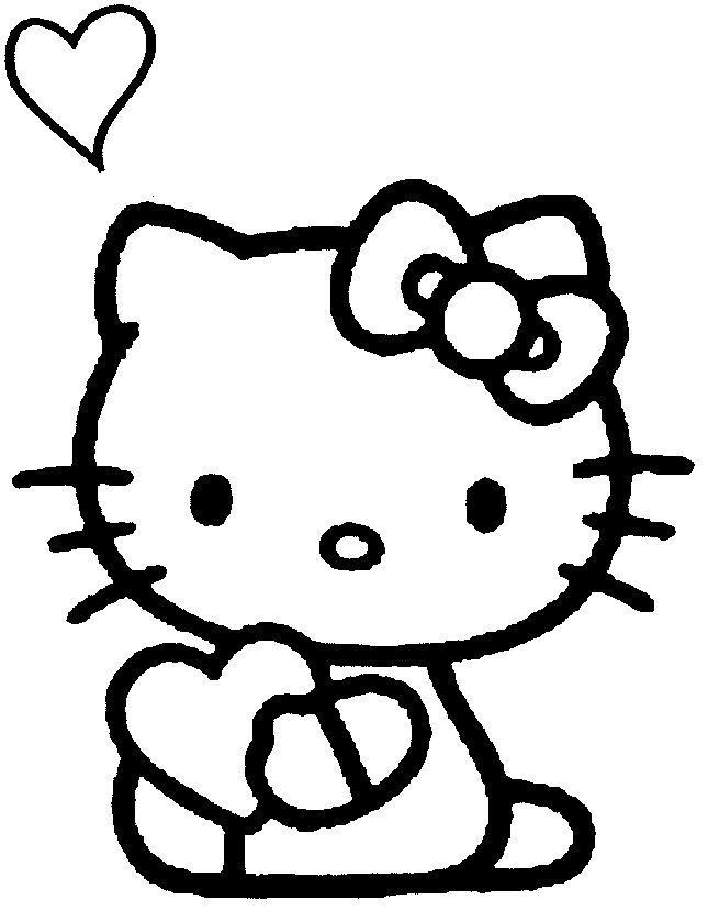 Coloriage hello kitty gratuit - dessin a imprimer #34