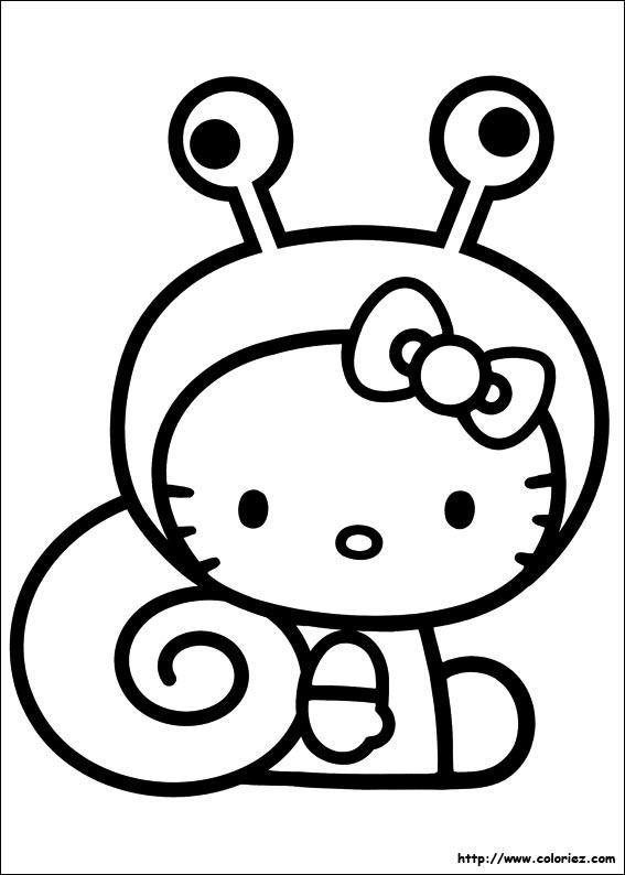 Coloriage hello kitty gratuit - dessin a imprimer #40