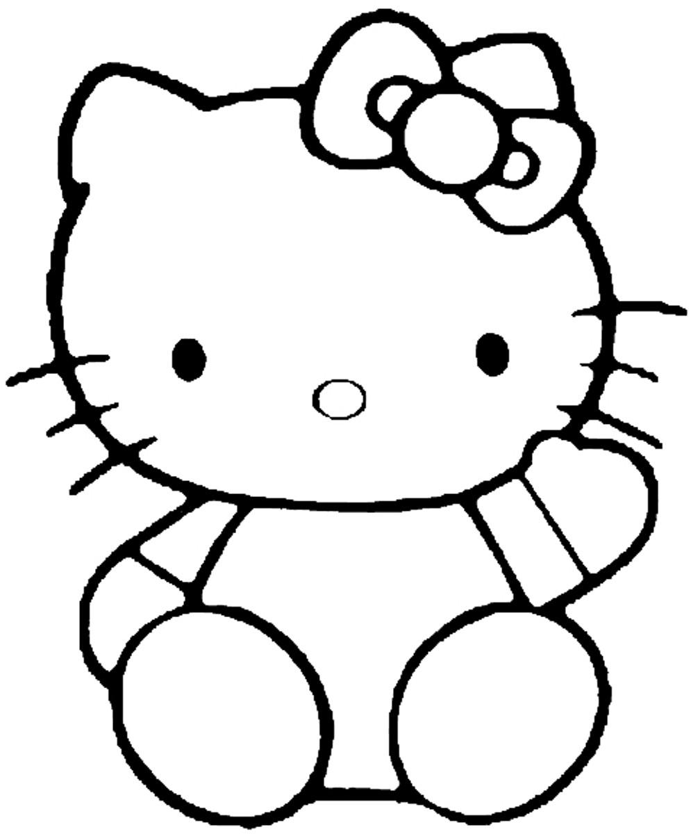 Coloriage hello kitty gratuit - dessin a imprimer #45