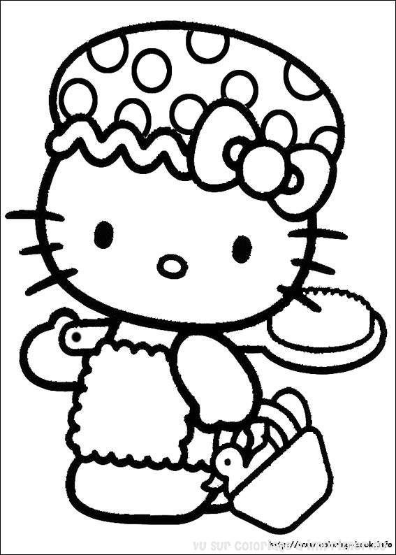 Coloriage hello kitty gratuit - dessin a imprimer #5