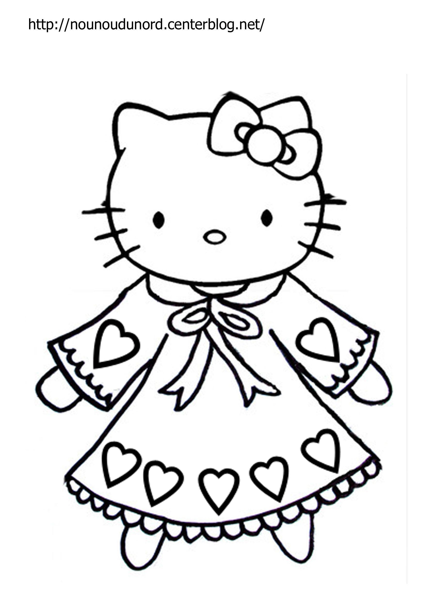 Coloriage hello kitty gratuit - dessin a imprimer #67