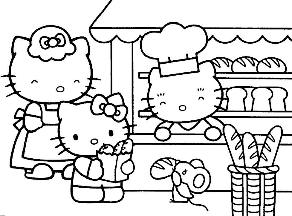 Coloriage hello kitty gratuit - dessin a imprimer #7