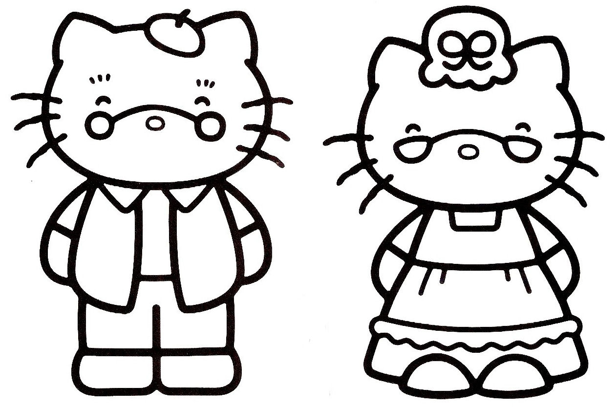 147 dessins de coloriage hello kitty imprimer sur page 14 - Hello kitty a imprimer ...