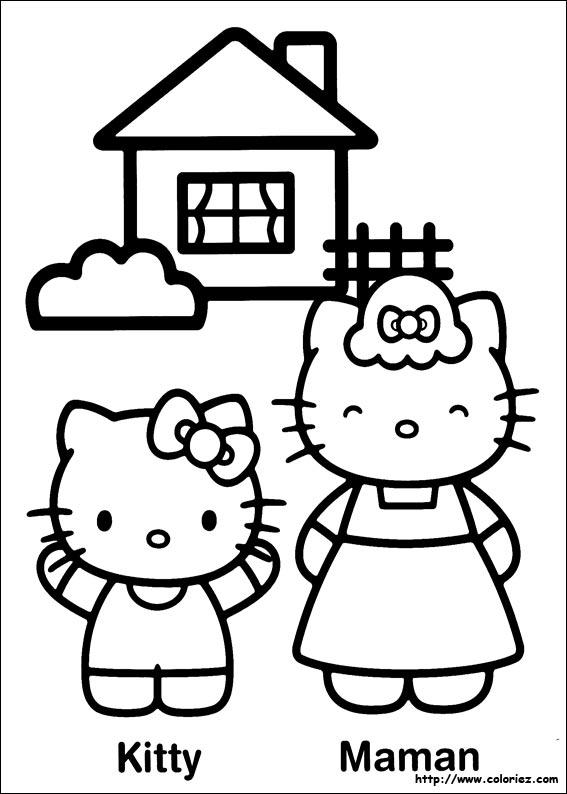 Coloriage hello kitty gratuit - dessin a imprimer #73