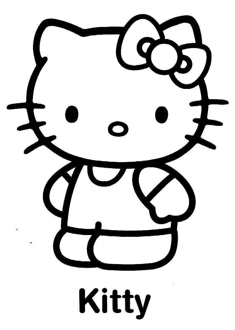 Coloriage hello kitty gratuit - dessin a imprimer #75