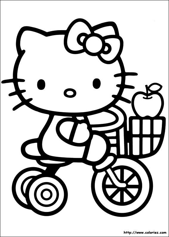 Coloriage hello kitty gratuit - dessin a imprimer #76