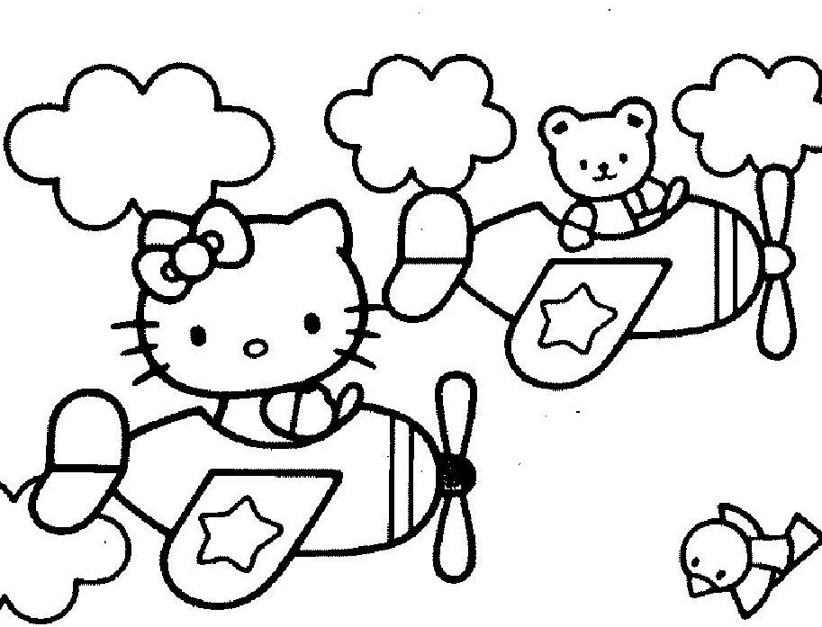 Coloriage hello kitty gratuit - dessin a imprimer #77
