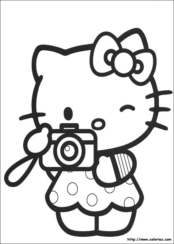 Coloriage hello kitty gratuit - dessin a imprimer #8