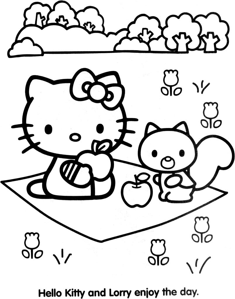 Coloriage hello kitty gratuit - dessin a imprimer #80