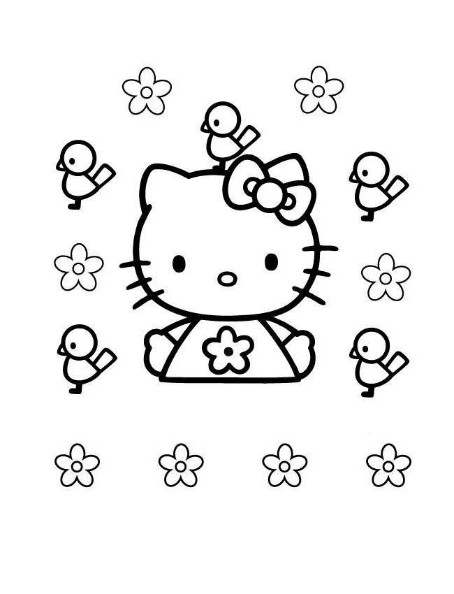 Coloriage hello kitty gratuit - dessin a imprimer #81