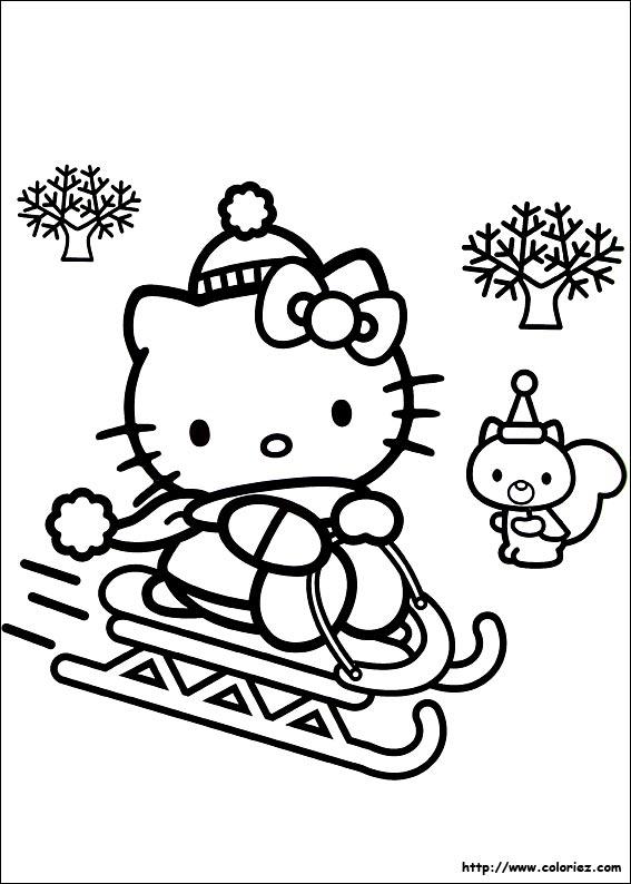 Coloriage hello kitty gratuit - dessin a imprimer #82