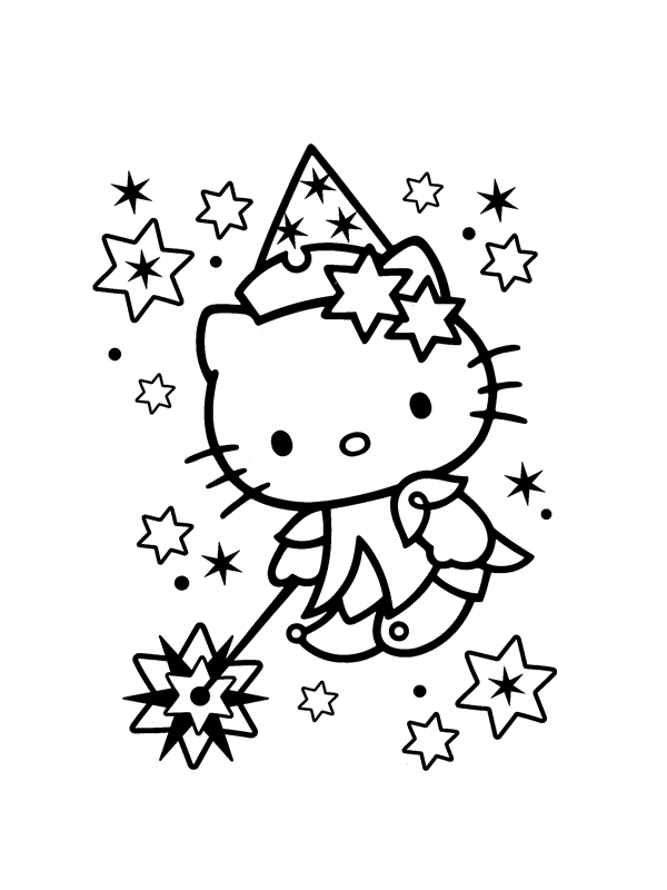 Coloriage hello kitty gratuit - dessin a imprimer #83