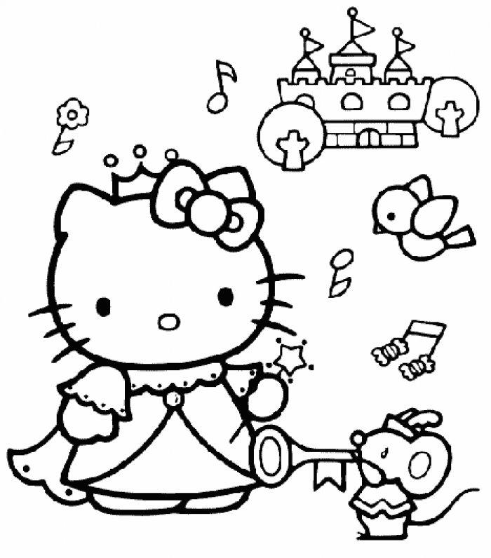 Coloriage hello kitty gratuit - dessin a imprimer #85