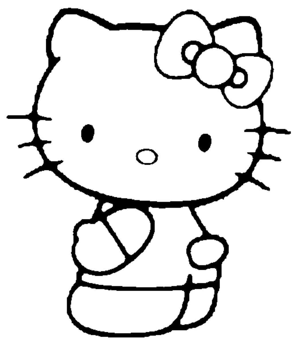 Coloriage hello kitty gratuit - dessin a imprimer #88