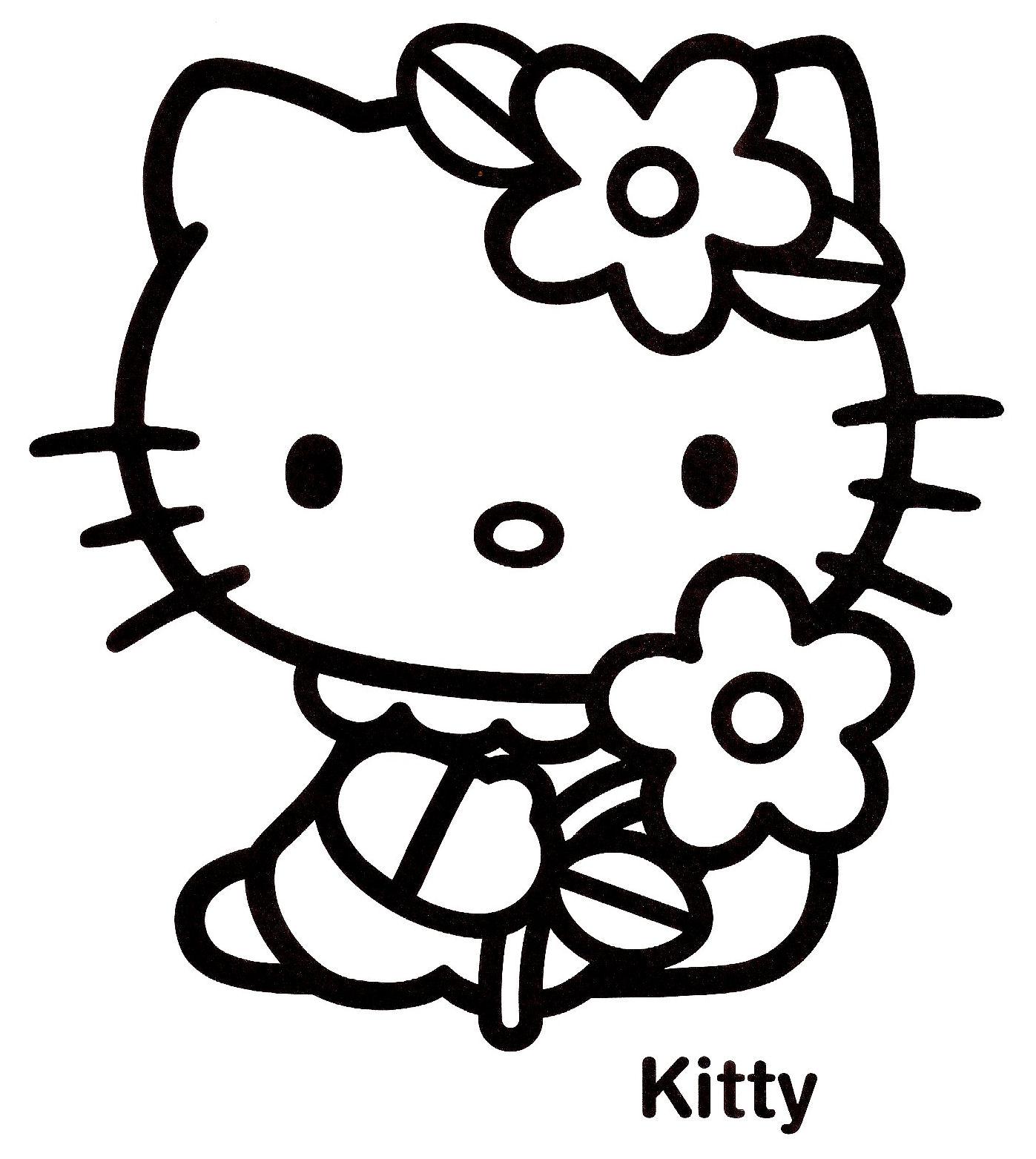 Coloriage hello kitty gratuit - dessin a imprimer #89