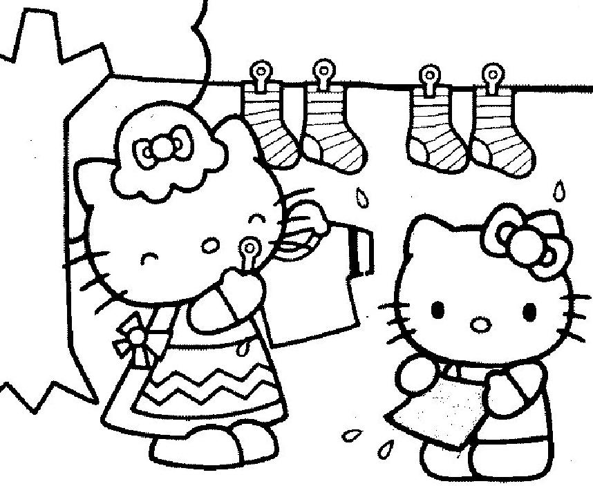 Nice Coloriages Hello Kitty Gratuits A Imprimer #11: Coloriage Hello Kitty Gratuit - Dessin A Imprimer #97