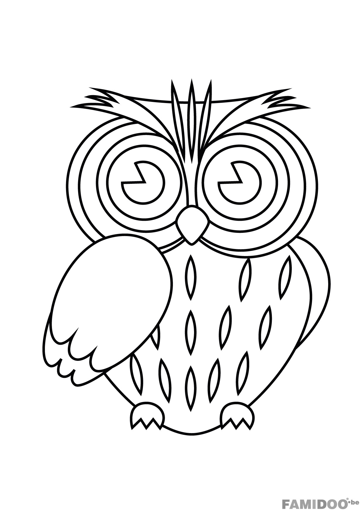 S lection de coloriage hibou imprimer sur - Dessins hibou ...