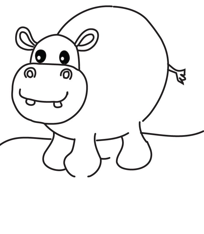 Dessin de hippopotame gratuit
