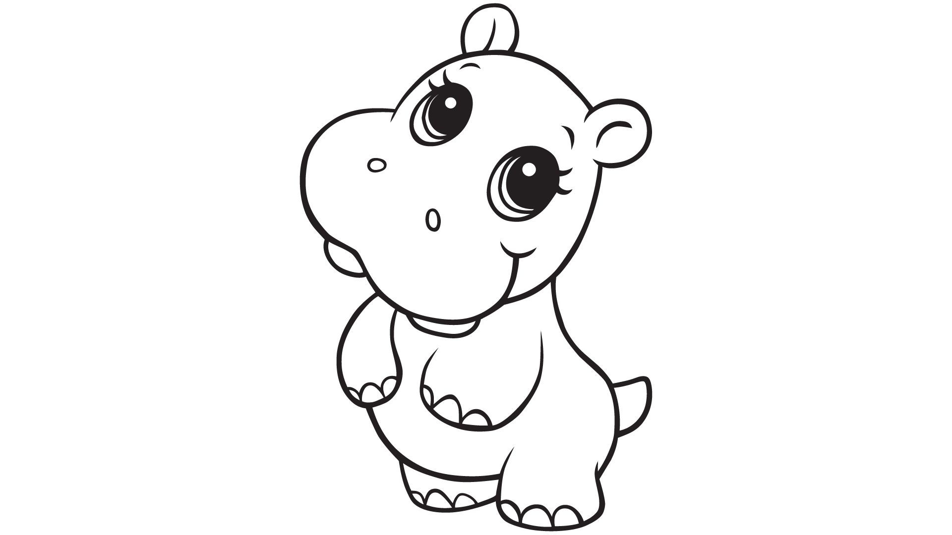 Super Cute Baby Animals Coloring Pages. Silhouette: Tigre ...