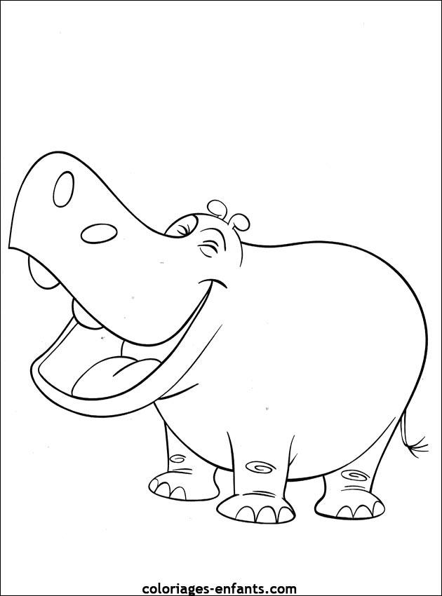 107 dessins de coloriage hippopotame imprimer sur - Coloriage hippopotame ...