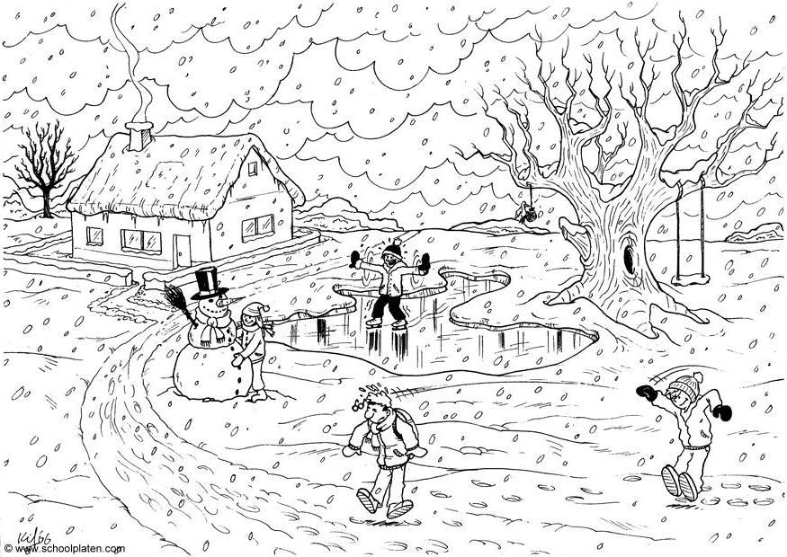 84 dessins de coloriage hiver imprimer sur page 4 - Dessin sur l hiver ...