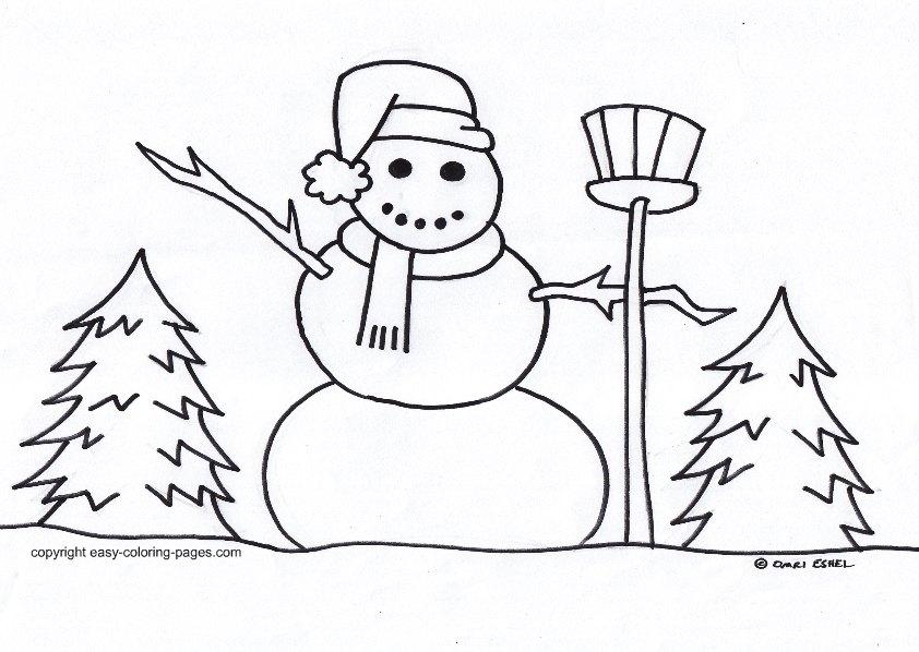 hiver coloriage pages dessin gratuit à colorier site