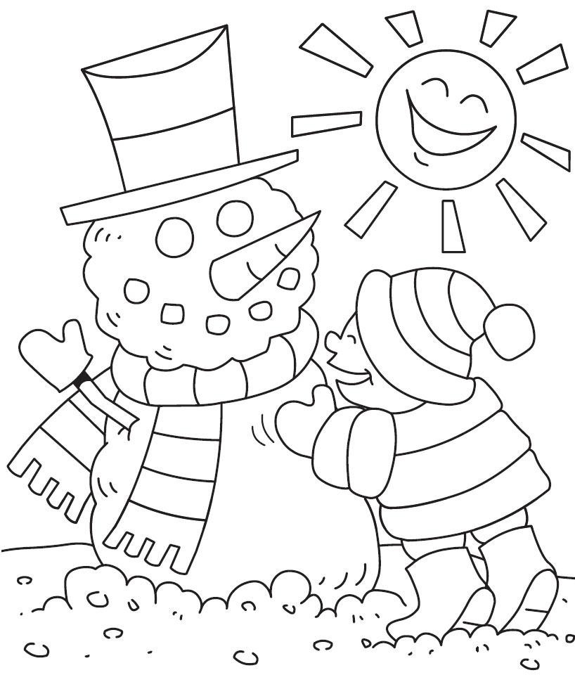 hiver dessins à colorier print hiver images à dessiner at