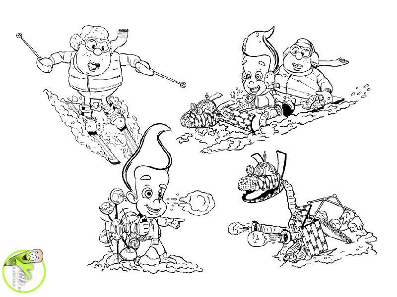 coloriage les sport d'hiver de jimmy dans la catégorie jimmy
