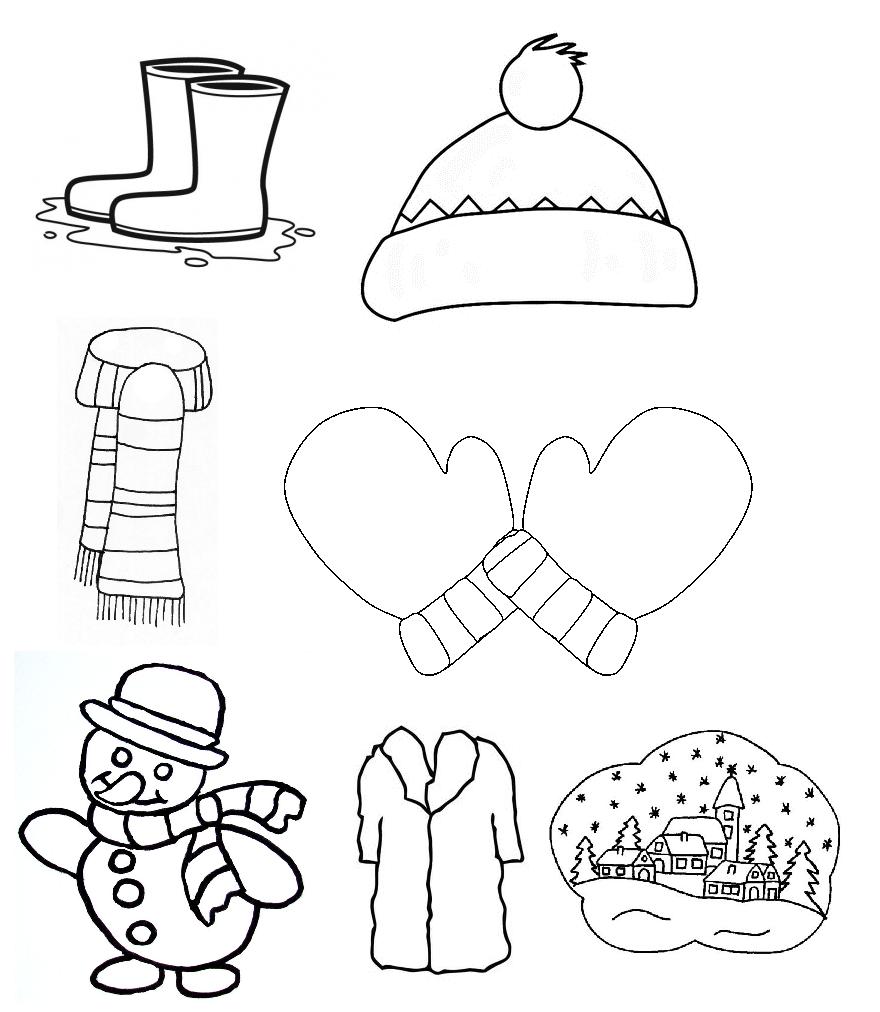 coloriages hivers petites images à imprimer