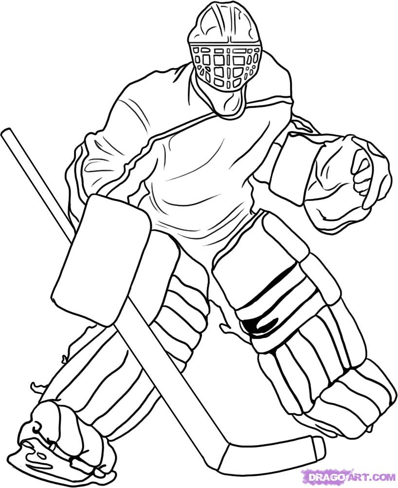 Image #17260 - Coloriage hockey gratuit