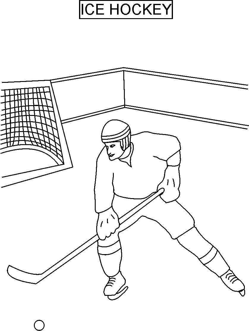 Image #17261 - Coloriage hockey gratuit