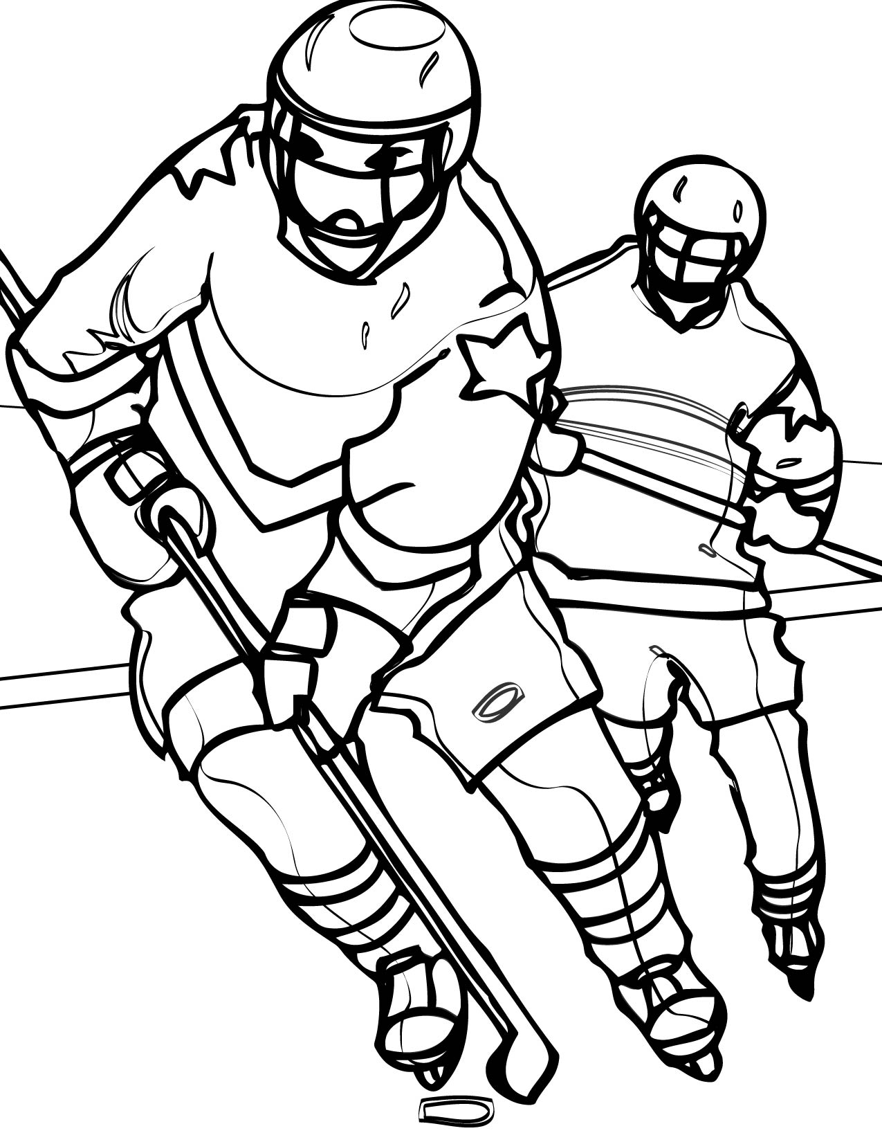Image #17264 - Coloriage hockey gratuit