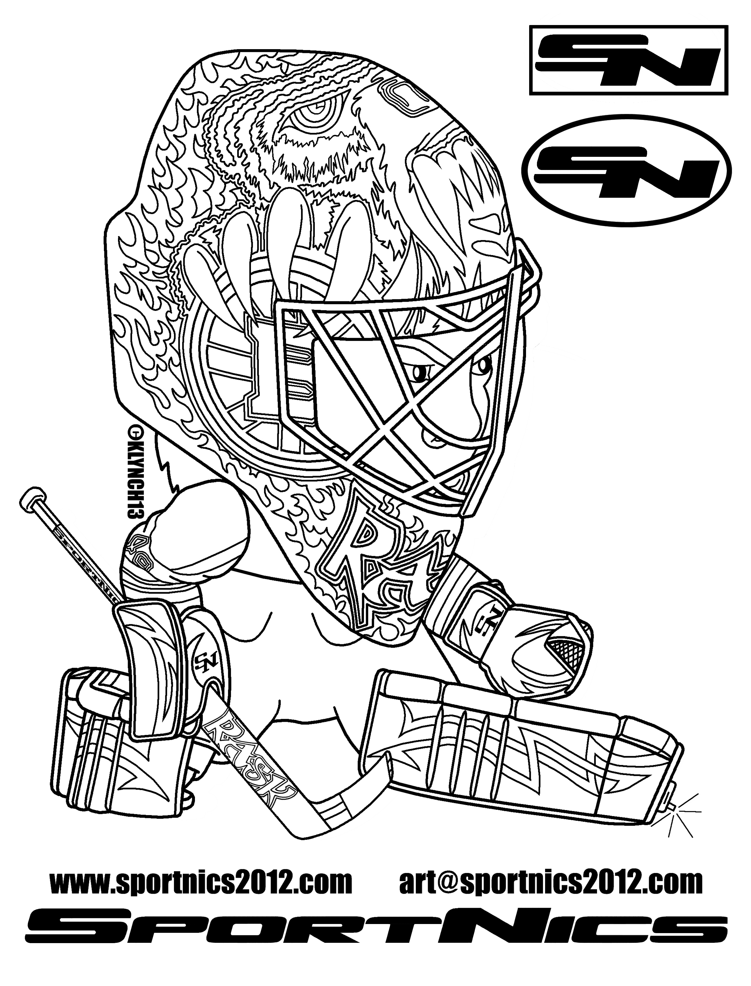 Montreal canadiens goalie coloring pages coloring pages - Dessin hockey ...