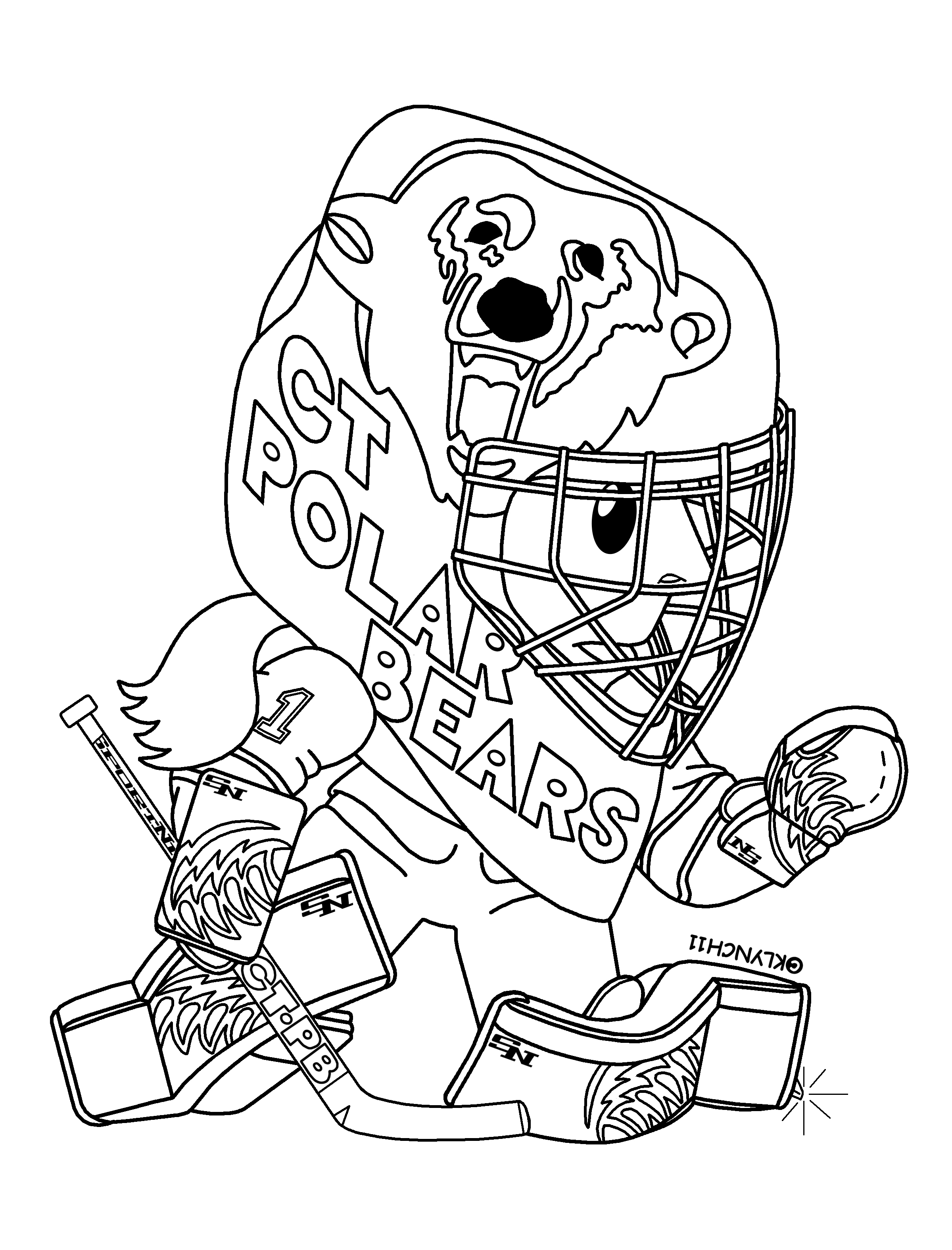 Drawn hockey goalie coloring pages - Dessin hockey ...