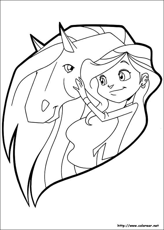 Coloriage horseland gratuit - dessin a imprimer #1