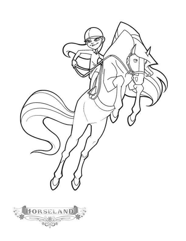 Coloriage horseland gratuit - dessin a imprimer #10