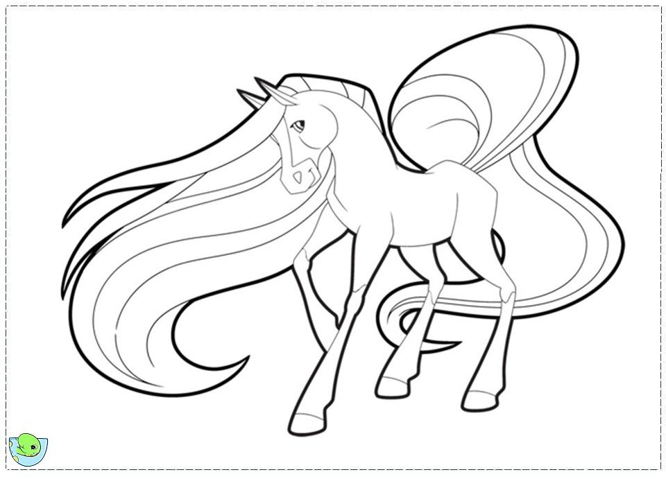 Coloriage horseland gratuit - dessin a imprimer #111