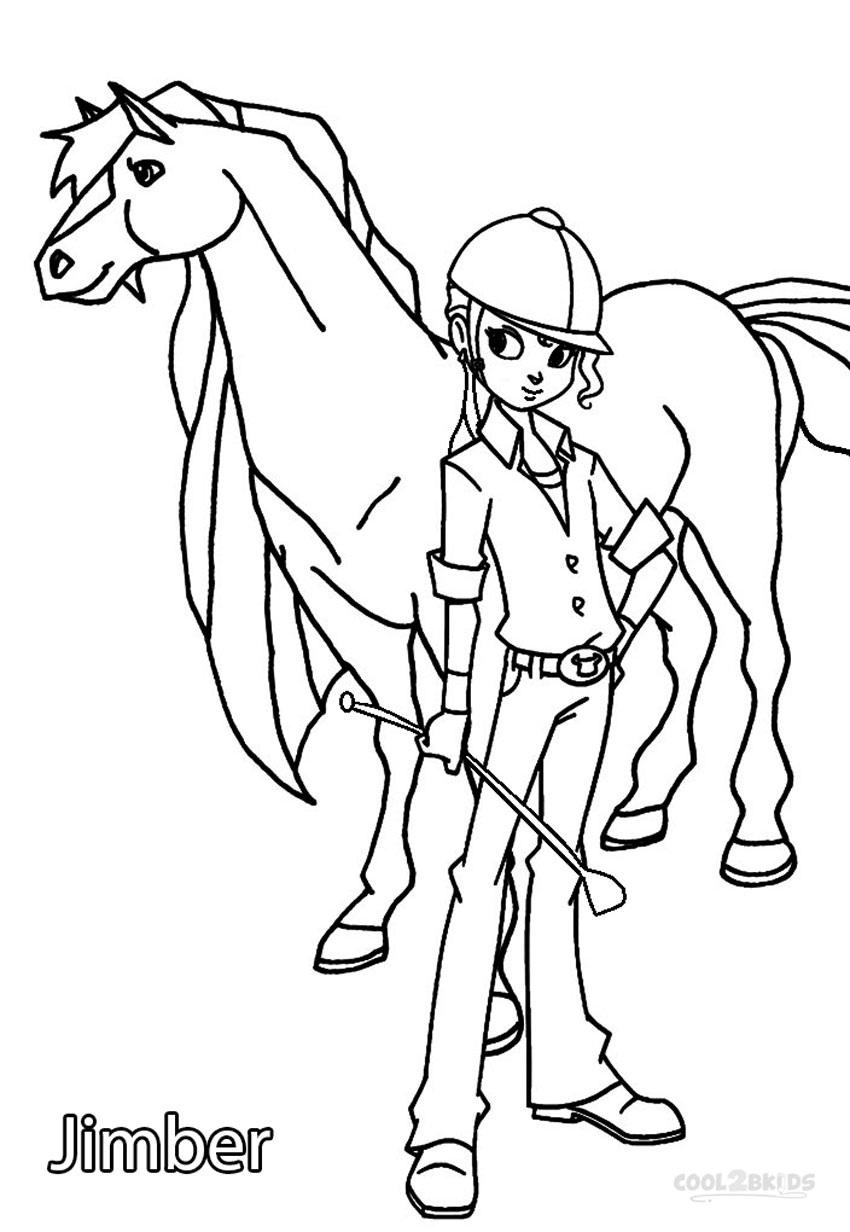 Coloriage horseland gratuit - dessin a imprimer #128