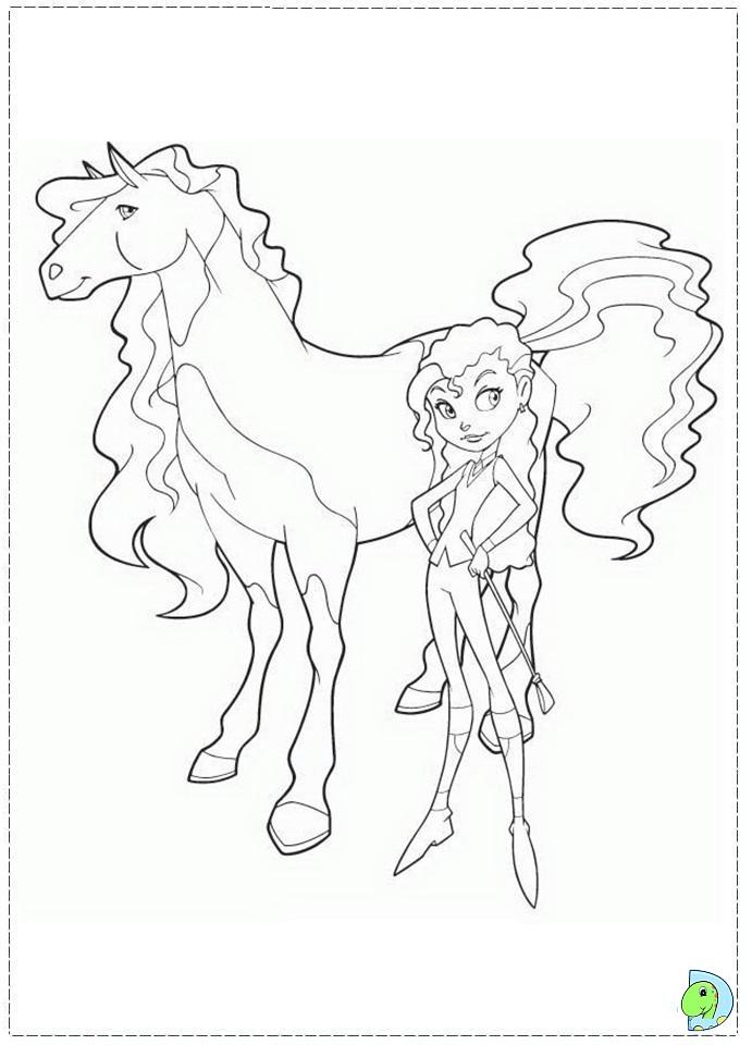 Coloriage horseland gratuit - dessin a imprimer #132